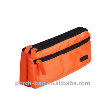 2017 100% polyester three compartment cheap school pencil case with zipper