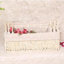 Household handmade paper woven storage basket for toys sundries