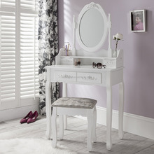 Mirror Bedroom Furniture Wood Vanity Makeup Table Professional