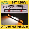 color changing flashing 22 inch 120w led light bar for ambulance offroad, police cars
