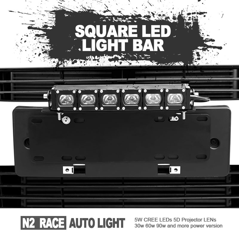 "Hot Selling Bull Bar Bumper Place Quad 60W 21"" LED Light Bar Offroad Boat Mounting"