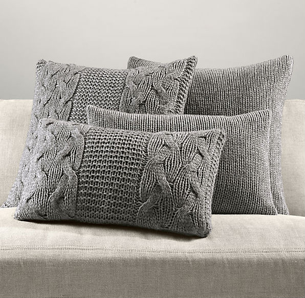Knitted cushion cover, knitted pillow case/Very Good Knitted Decorative Woven Pillows.