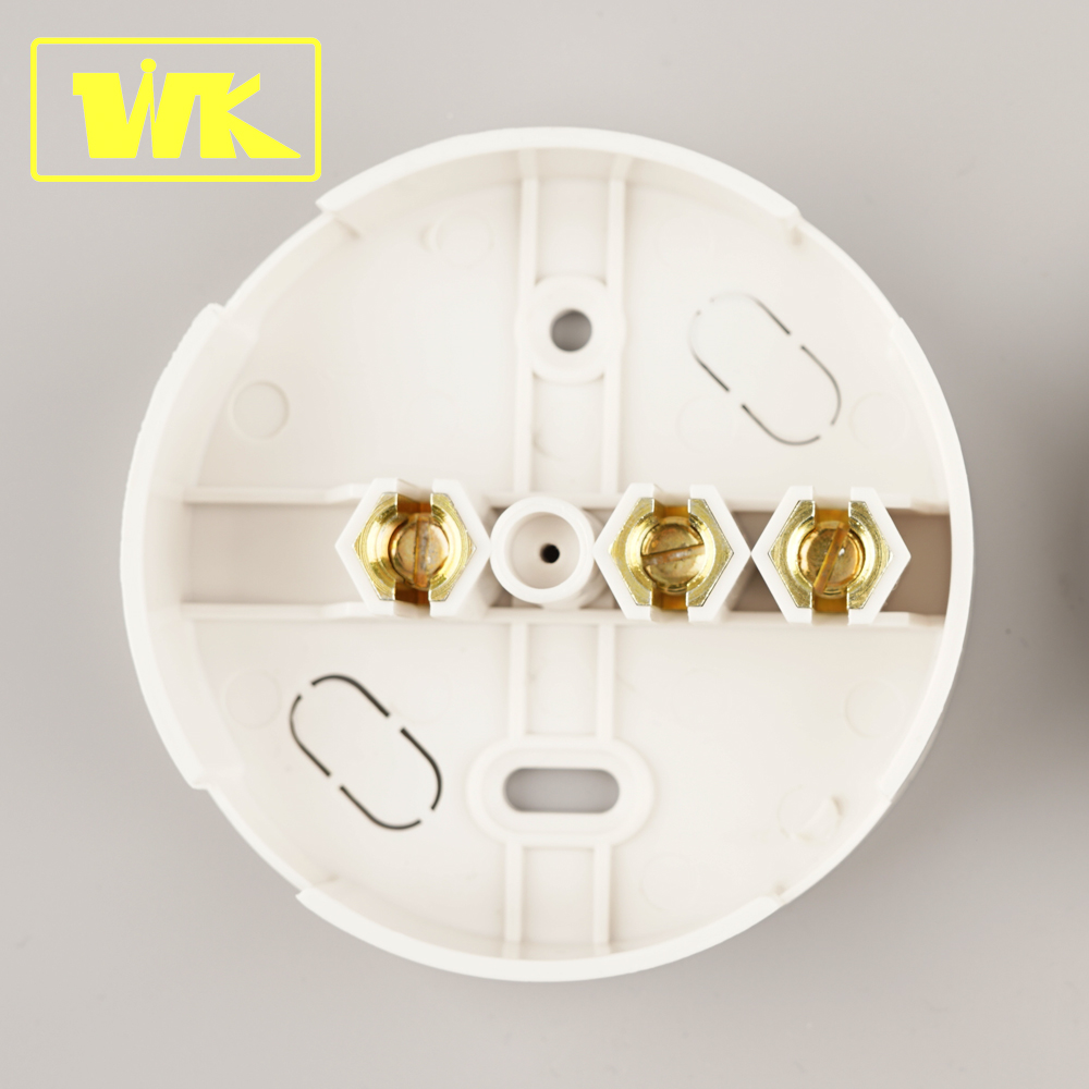 Plastic 3 Line Arrangement Terminals IEC60670 30A UK Connection Box Round Junction Box