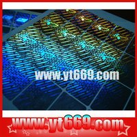Master 3d custom holographic sticker label /Genuine Hologram label stickers /Transparent Self-adhesive Holographic Film