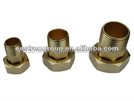 brass water meter fittings HPb57-1~3 coupling and nuts
