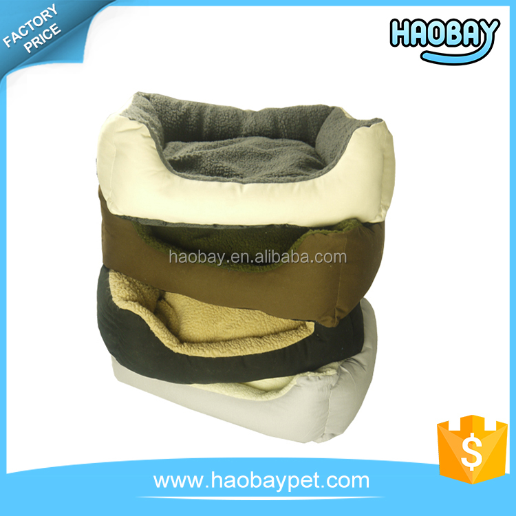 Waterproof Camp Dog Bed Basket Warm Bed For Dog With Sherpa