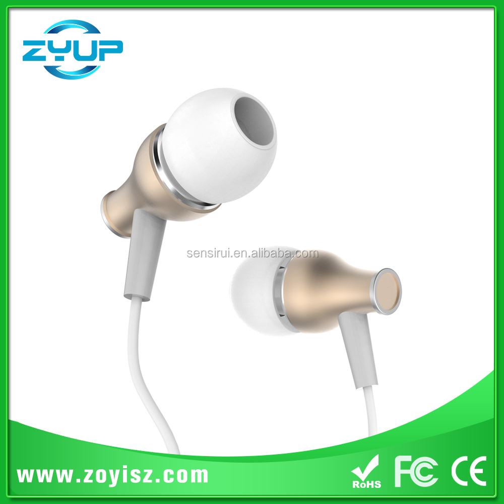 OEM factory fabric earbud earphone mic