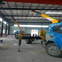 hot price factory sale 3.2ton hydraulic straight arm cargo crane truck for sale
