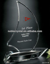 Crystal Sailing Boat Trophy