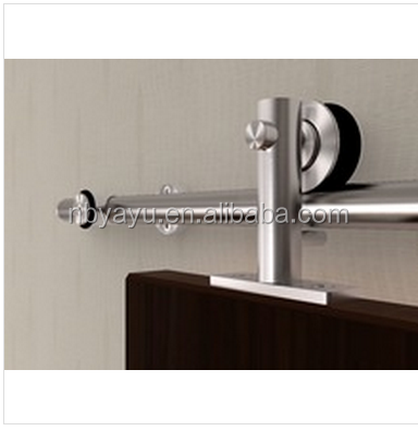 6.6'ft Modern Stainless Steel Top Mount Round Track Interior Sliding Door Hardware