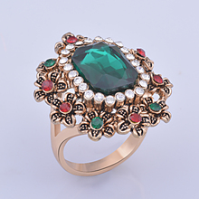 Buy Wholesale Oval Opal White Drusy Rings only for ladies direct from manufacturing