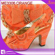 italian shoes and bags to match women ME3306 orange