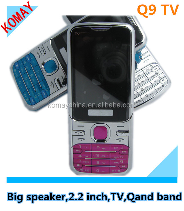 KOMAY Hot selling low price china original tv mobile q9 cellphone