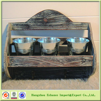 American antique 1 tier Wooden wall mounted organizer cabinet with key hooks