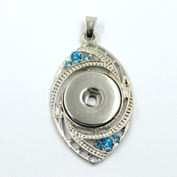 Fashion Snap Pendant Jewelry ,DIY Snap Charms Pendants,Crystal Evil Eyes Pendant