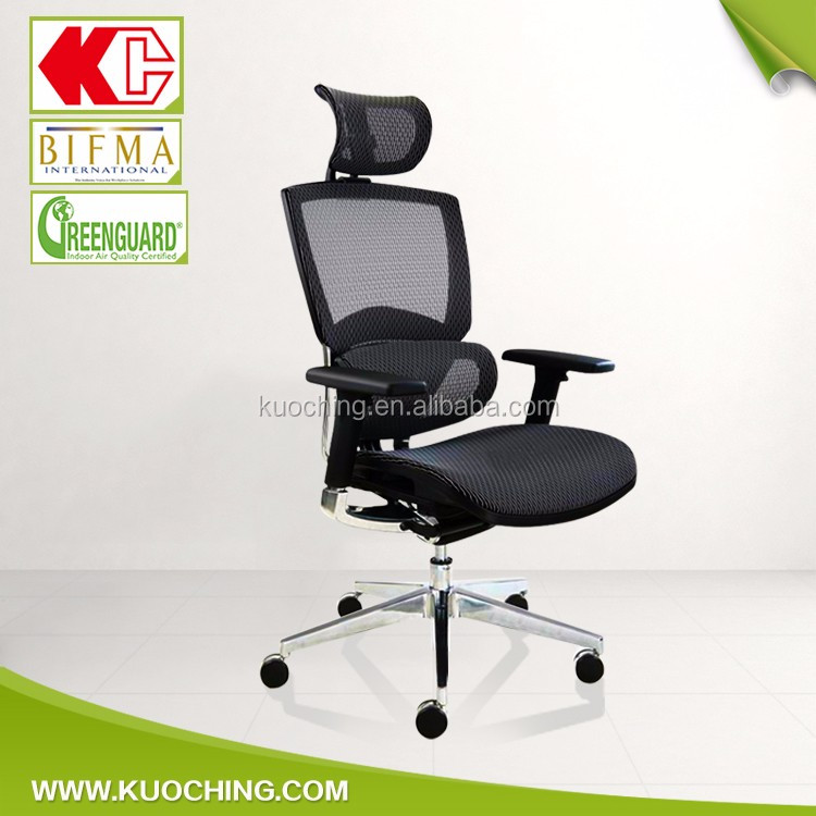 Multifunction Lumbar Adjustable 3D Armrest Tilting Mechanism Office Mesh Chair