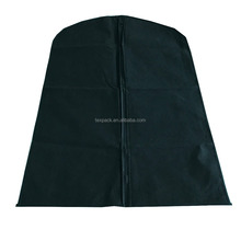 75gsm black nonwoven 44'' garment bag for suits/t-shirt