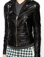 korean style clothes cheap slim fit leather jacket women