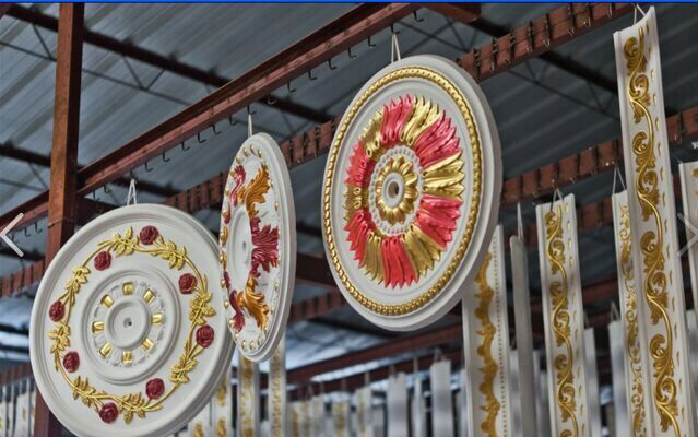 colorful gypsum medallion/ center panels for ceiling ornament