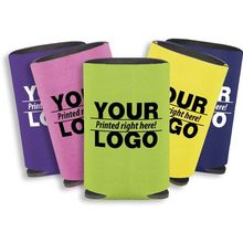 wholesale customized logo print neoprene foam beer stubby holder with cigarette and lighter pouch