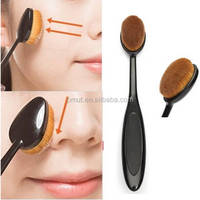 Hot sale girl makeup tooth face oval powder make up brush for make-up cosmetics