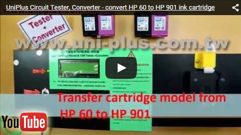 Testing equipment and machine for HP 60 Ink Cartridge Tester