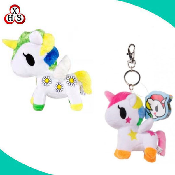 high quality OEM design custom unicorn plush keychain unicorn keychain plush