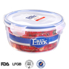 China manufacturer bpa free plastic round container food grade PP,airtight,clear plastic bowls with lids,wholesale