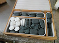 nature Lava deep therapy hot stone massage set with bamboo box packing