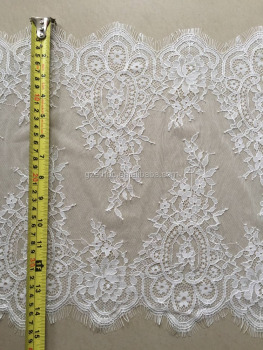 Hot sale nylon lace trim with scallop edge for lingerie
