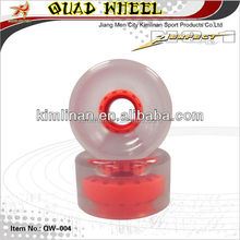 4 wheel Quad skate wheel for racing, inline pu wheel reach CE and ISO, metal roller skate wheels