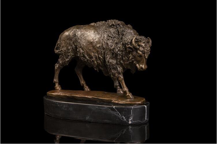 Decoração de mesa tamanho pequeno touro estátuas c bison escultura para a decoração home