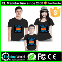 Brand new el tshirt led t-shirt el t shirt music led t-shirt By Flashing company
