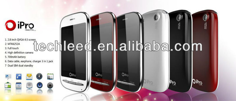 Cute PDA Low cost Best Design Ipro Quad band Dual Standby mobile phone Q70
