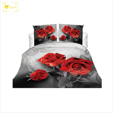 HongLi Wholesale 100% polyester microfiber fabric 3d flower disperse printed bedding set