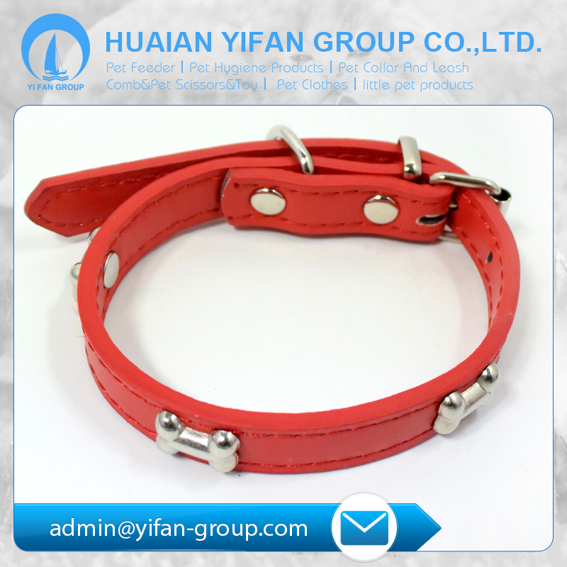 Professional dog products company making thin leather dog collars