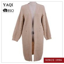 Fashionable Long Computer Knitting Knitwear Clothing for Ladies Women Cardigan Heavy Winter Sweater Coat