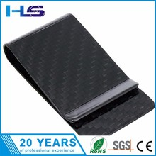 Custom high quality carbon fiber flat money spring clip for sale