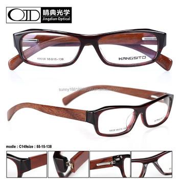 2015 wood frame latest model spectacle glasses 8038 - Wood Frames Glasses