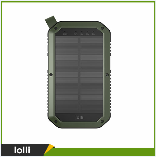 High Quality Portable Solar Panel Charger 8000mah, Outdoor Power Bank