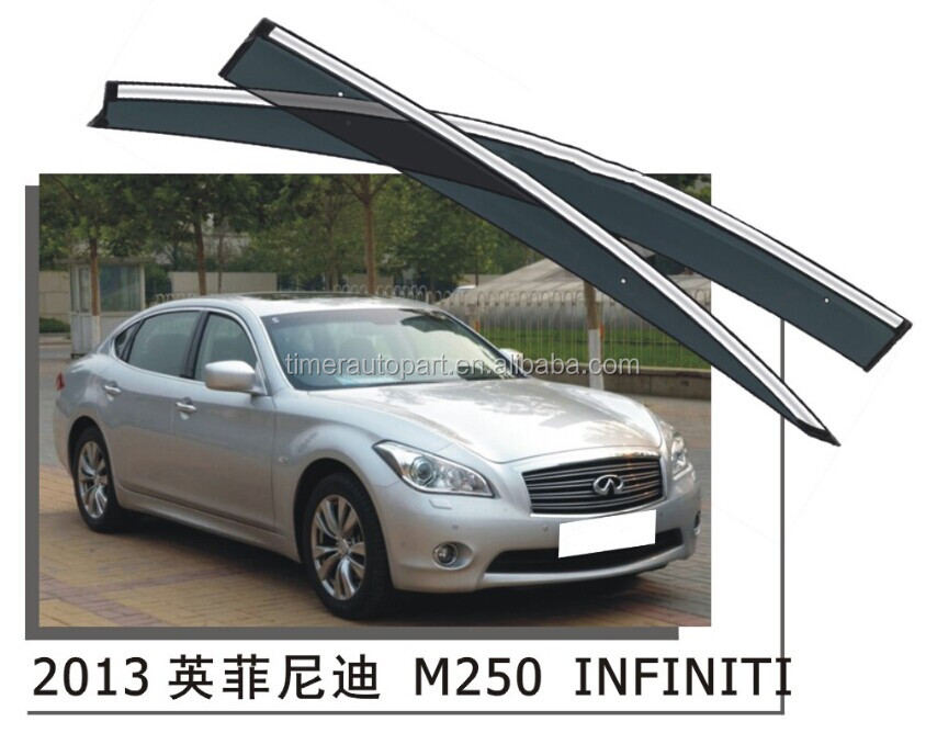 Custom car side window deflectors visor for infiniti M250 2013