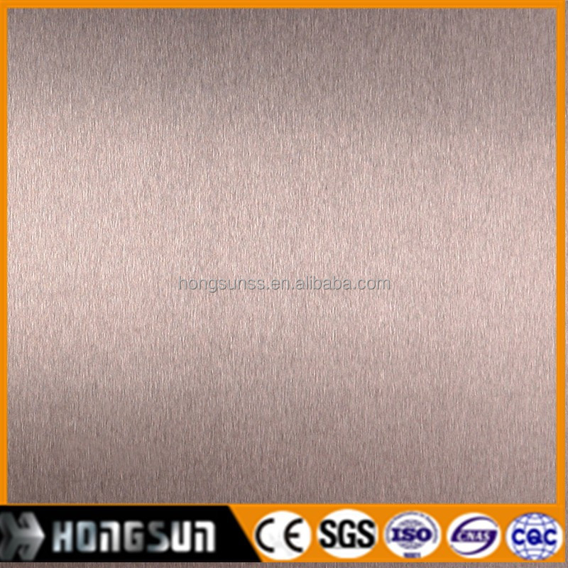 304 rose gold hairline stainless steel sheet