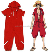 walson One Piece Monkey D. Luffy Cosplay Costume jumpsuit cat suit