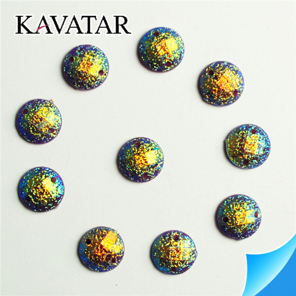 Resin Rhinestone for bridal applique and earrings