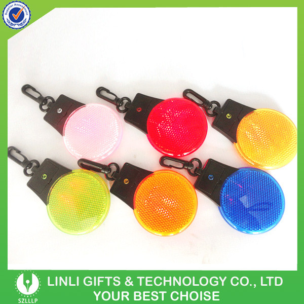 Plastic Customized Flashing Reflector Keyring