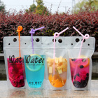 customised transparent plastic zip lock drinks,beverage bag