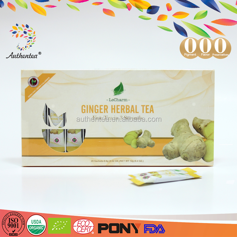 USDA Organic Pure Instant Ginger Tea Extract for Treating Cold