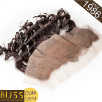 No Nits 100% Natural Human Hair Lace Frontal Closure Clase 7A