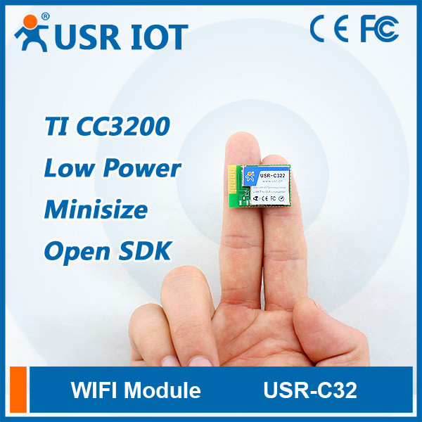 USR-C322 Wifi Module With TI CC3200 Solution UART to Wifi 802.11b g n Converter Support AP STA Working Mode