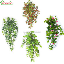 wholesale green artificial plastic ivy fake ivy vines leaf artificial hanging plant